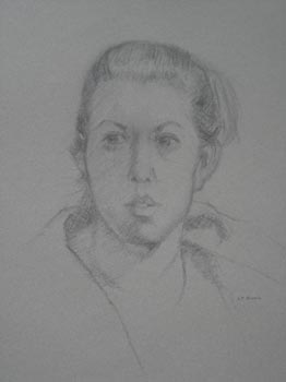 Linda F. Harris, Drawing, Colette, charcoal 18x20