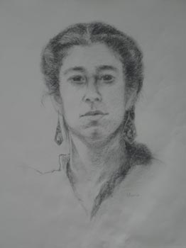 Linda F. Harris, Drawing, Danelle, charcoal 12x16