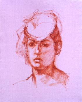 Linda F. Harris, Drawing Tarika - Oil 16x20