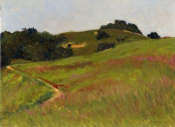 Linda F. Harris - Early Winter, Russian Ridge - oil, 9x12