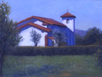 Linda F. Harris - Mission San Jose -Oil, 8x10