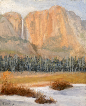 Linda F. Harris - Valley Snow, Yosemite - Oil, 8x10