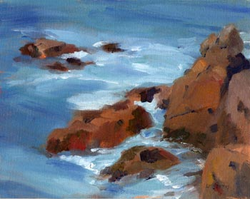 Linda F. Harris - Point Lobos III, Oil-8x10
