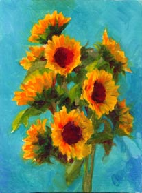 Linda F. Harris - Sunflower, oil, 6x8