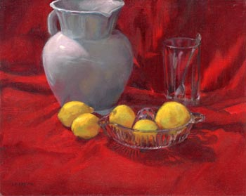 "Linda F. Harris - ""Lemonade?"", oil, 11x14"