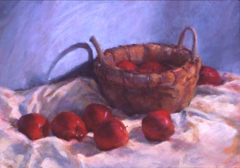 Linda F. Harris - The Apple Basket, pastel, 17x22